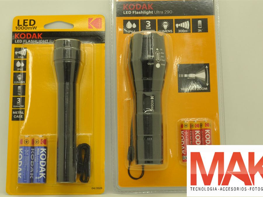 Linternas - InfoGuia Traslasierra - Linternas Kodak a pila[--ENTER--] 1 - Led flashlight Robust[--ENTER--] 2 - Led flashlight Ultra 290[--ENTER--]